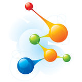 Molecule. Four color molecule and medicine Royalty Free Stock Photo