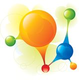 Molecule. Big molecule and sphere vector Royalty Free Stock Image
