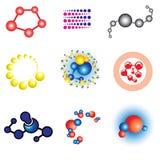 Molecule. Set of science molecule simbols Stock Photography