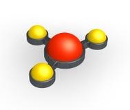 Molecule Abstract Royalty Free Stock Photos