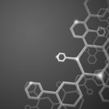 Molecule Abstract Background. Royalty Free Stock Photos