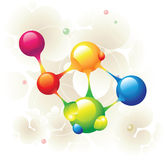 Molecule atom. And color circle Stock Photography