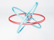 Molecule, atom on white background Stock Photography
