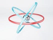 Molecule, atom on white background Royalty Free Stock Photo