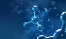 Molecule of atoomstructuur, wetenschapsachtergrond Royalty-vrije Stock Foto