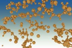 Molecule background Stock Image