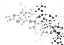 Molecule background Royalty Free Stock Images