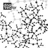 Molecule background, art illustration Stock Image