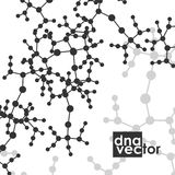 Molecule background, art illustration Royalty Free Stock Photos