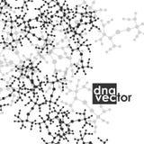 Molecule background, art illustration Stock Photos