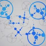 Molecule background, colorful illustration Stock Images