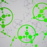Molecule background, colorful illustration Stock Photo