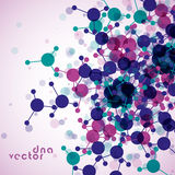 Molecule background, colorful illustration Stock Photography