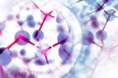 Molecule background Royalty Free Stock Image