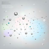 Molecule Background 01 A Royalty Free Stock Image