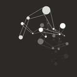 Molecule background. Molecular structures over the black background, vector illustration Stock Photography