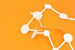 Molecule background Stock Photo