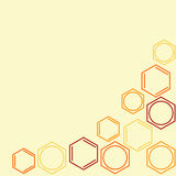 Molecule benzene. Colored vector frame Royalty Free Stock Image