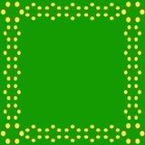 Molecule benzene frame. Vector illustrarion Royalty Free Stock Photos