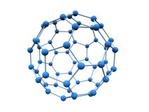 Molecule blue. Blue molecule over white background Royalty Free Stock Photography