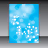 Molecule blue background Royalty Free Stock Images