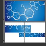 Molecule Brochure Design. Royalty Free Stock Images