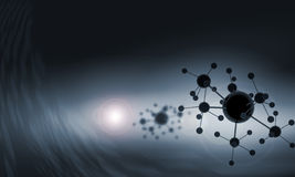 Molecule chain. High tech background concept with molecule chain Royalty Free Stock Images