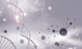 Molecule chain. High tech background concept with molecule chain Stock Photos