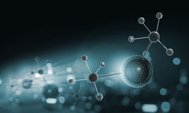 Molecule chain Stock Photo