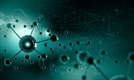 Molecule chain Stock Photography