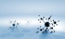 Molecule chain Stock Image