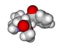 Molecule of cocaine Royalty Free Stock Photos
