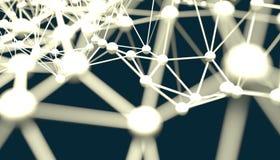Molecule And Communication Background. Illustration. Royalty Free Stock Photo