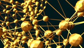 Molecule And Communication Background. Illustration. Molecule And Communication Background. Brochure or web banner design. Lines and spheres. Medical Royalty Free Stock Image