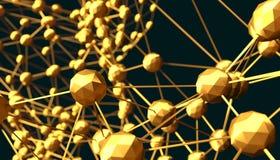 Molecule And Communication Background. Illustration. Royalty Free Stock Image
