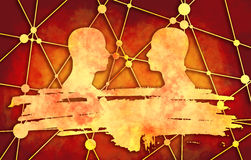 Molecule And Communication Background. Illustration.