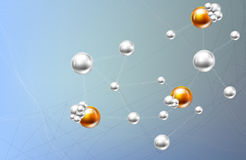 Molecule And Communication Background Royalty Free Stock Images