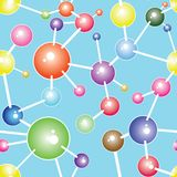 Molecule communication background vector illustration Stock Image