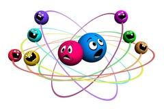 Molecule consisting of smile Stock Photo