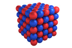 Molecule cubic crystal structure Stock Images