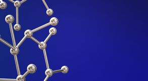 Molecule 3d rendering for  science  content stock image