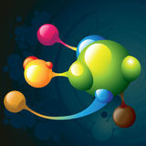 Molecule dark. And color circle Stock Photo