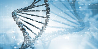 Molecule of DNA. Background high tech image of dna molecule stock images