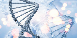 Molecule of DNA. Background high tech image of dna molecule stock photo