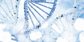 Molecule of DNA. Background high tech image of dna molecule stock image
