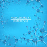 Molecule DNA and neurons vector. Molecular structure. Royalty Free Stock Photo