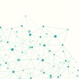 Molecule en Communicatie Achtergrond royalty-vrije illustratie