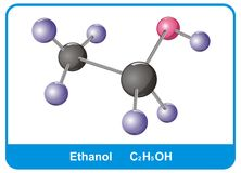Molecule of ethanol Stock Photos