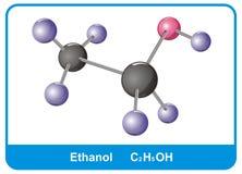 Molecule of ethanol. Science image vector illustration