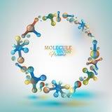 01 Molecule Frame Stock Photo